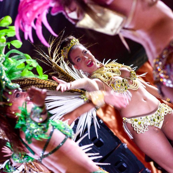 Female performers at The Copenhagen Carnival