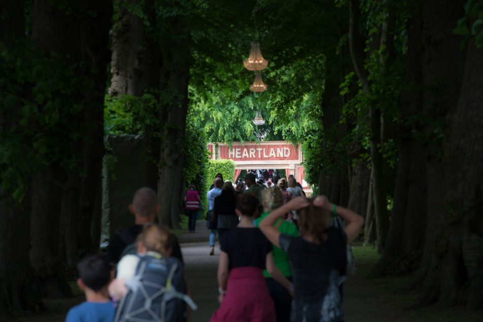 The main entrance to Heartland Festival in Denmark