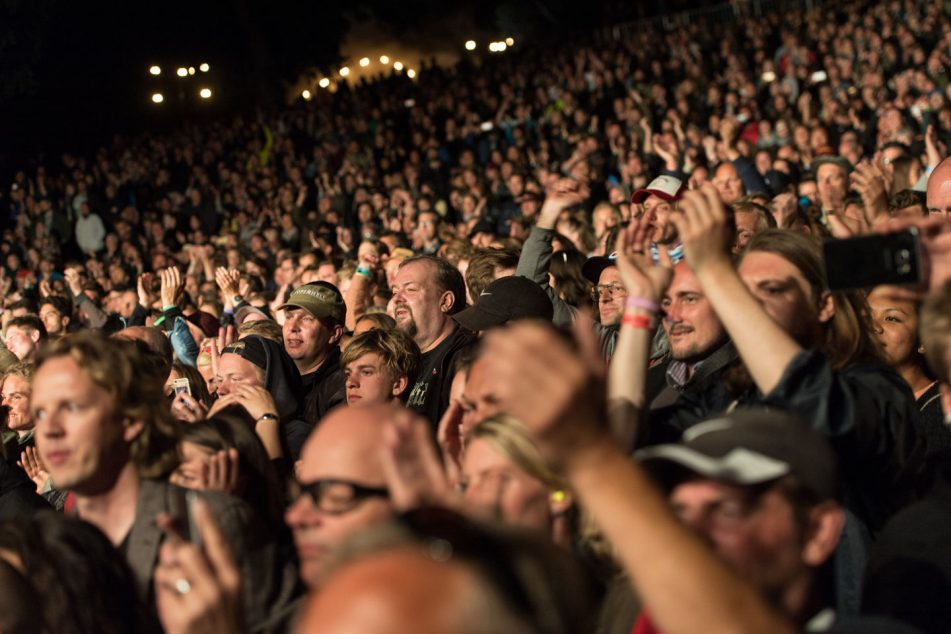 Audience watching Eddie Vedder