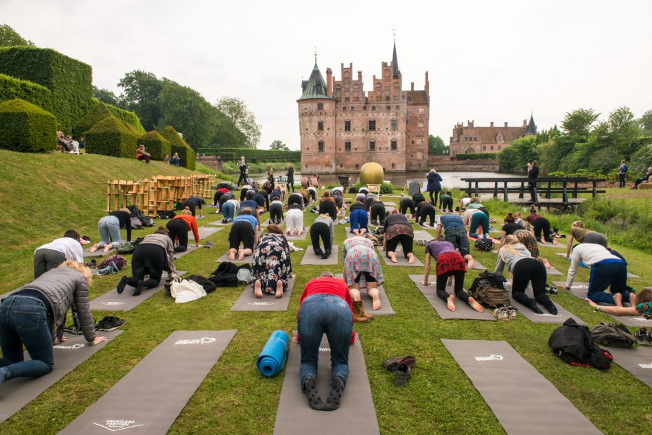 Yoga workshop at Heartland Festival